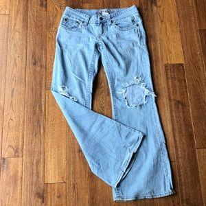 Hydrologic distressed jeans